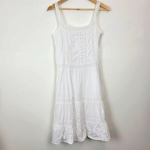 ESPRIT | White Embroidered Farmhouse Chic Dress